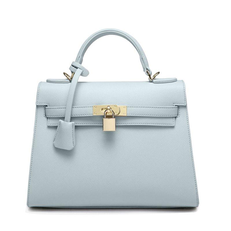 Túi birkin ổ khóa Cabwer xanh xám