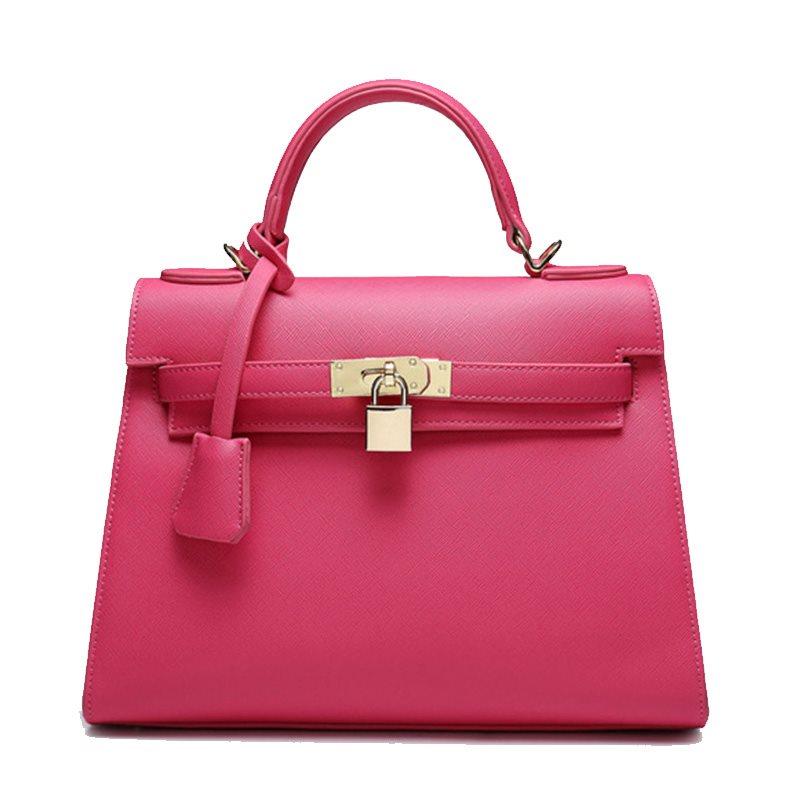 Túi birkin ổ khóa Cabwer hồng đậm