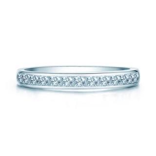 Nhẫn bạc kim gắn pha lê